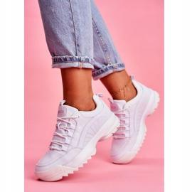 Damskie Sportowe Obuwie Sneakersy Big Star Białe FF274681 1