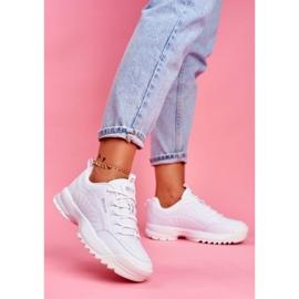 Damskie Sportowe Obuwie Sneakersy Big Star Białe FF274681 2