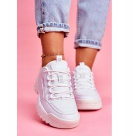 Damskie Sportowe Obuwie Sneakersy Big Star Białe FF274681 3
