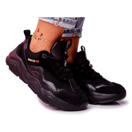 Damskie Sportowe Obuwie Sneakersy Big Star Czarne FF274959 5