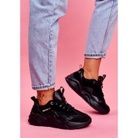 Damskie Sportowe Obuwie Sneakersy Big Star Czarne FF274959 2