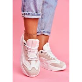 Damskie Sportowe Obuwie Sneakersy Big Star Białe FF274958 3