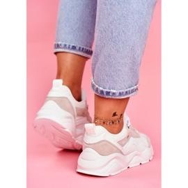 Damskie Sportowe Obuwie Sneakersy Big Star Białe FF274958 5