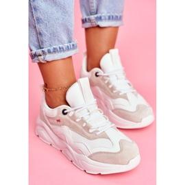Damskie Sportowe Obuwie Sneakersy Big Star Białe FF274958 4