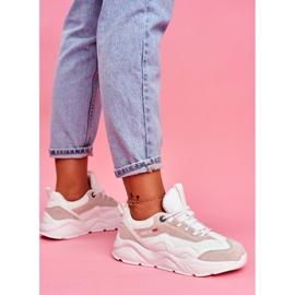 Damskie Sportowe Obuwie Sneakersy Big Star Białe FF274958 6