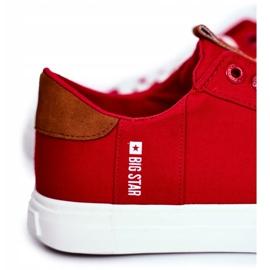 Trampki Męskie Big Star Czerwone FF174315 5