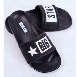 Klapki Dziecięce Młodzieżowe Big Star Czarne DD374150 3
