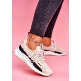 BUGO Sportowe Damskie Buty Sneakersy Beżowe Pamela beżowy 1
