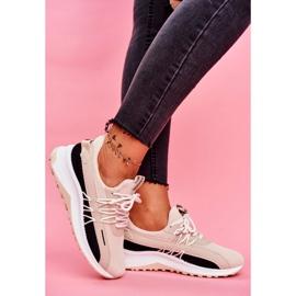 BUGO Sportowe Damskie Buty Sneakersy Beżowe Pamela beżowy 3
