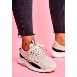 BUGO Sportowe Damskie Buty Sneakersy Beżowe Pamela beżowy 4