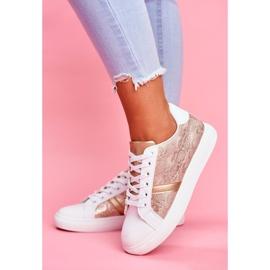 Damskie Sportowe Buty Eleganckie Białe Poppy 1