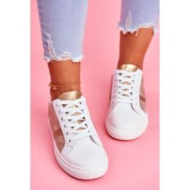Damskie Sportowe Buty Eleganckie Białe Poppy 2
