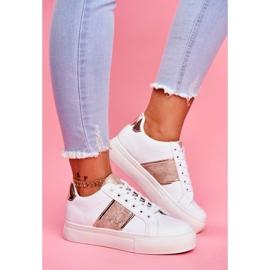 Sportowe Damskie Buty Biało Złote Keep Going białe 1