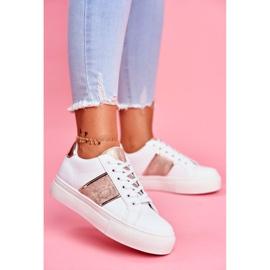 Sportowe Damskie Buty Biało Złote Keep Going białe 2