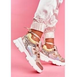 Moow Sportowe Damskie Buty Sneakersy Totally Crazy beżowy srebrny wielokolorowe 4