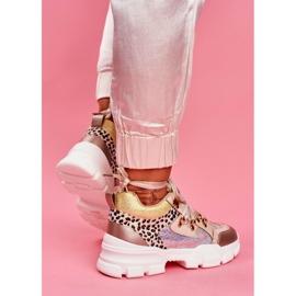 Moow Sportowe Damskie Buty Sneakersy Totally Crazy beżowy srebrny wielokolorowe 3