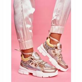Moow Sportowe Damskie Buty Sneakersy Totally Crazy beżowy srebrny wielokolorowe 1