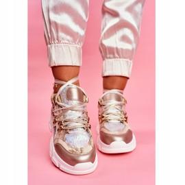 Moow Sportowe Damskie Buty Sneakersy Totally Crazy beżowy srebrny wielokolorowe 2