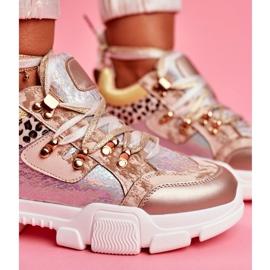 Moow Sportowe Damskie Buty Sneakersy Totally Crazy beżowy srebrny wielokolorowe 5