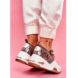 Moow Sportowe Damskie Buty Sneakersy Biało Złote Sempre białe wielokolorowe żółte 4