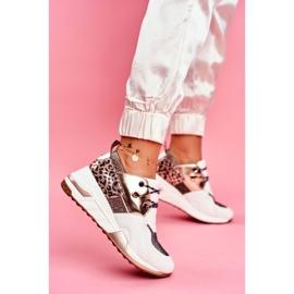 Moow Sportowe Damskie Buty Sneakersy Biało Złote Sempre białe wielokolorowe żółte 1