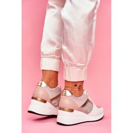 Moow Sportowe Damskie Buty Sneakersy Biało Różowe Dillion białe wielokolorowe żółte 3