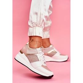 Moow Sportowe Damskie Buty Sneakersy Biało Różowe Dillion białe wielokolorowe żółte 2