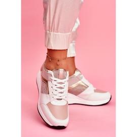 Moow Sportowe Damskie Buty Sneakersy Biało Różowe Dillion białe wielokolorowe żółte 5