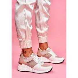 Moow Sportowe Damskie Buty Sneakersy Biało Różowe Dillion białe wielokolorowe żółte 4