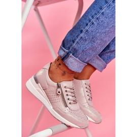 Vinceza Sportowe Damskie Buty Sneakersy Skórzane Beżowe FT20-8675 Better Way beżowy 1