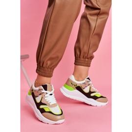 PS1 Sportowe Damskie Buty Sneakersy Białe Freak brązowe wielokolorowe 2