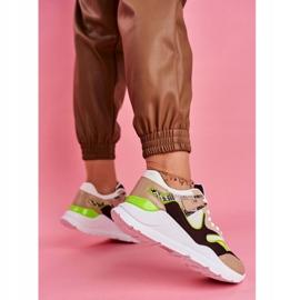 PS1 Sportowe Damskie Buty Sneakersy Białe Freak brązowe wielokolorowe 5