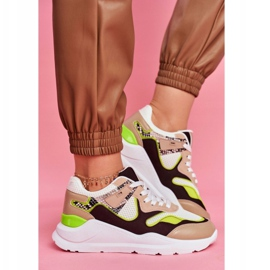 PS1 Sportowe Damskie Buty Sneakersy Białe Freak brązowe wielokolorowe 4