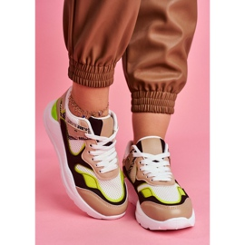 PS1 Sportowe Damskie Buty Sneakersy Białe Freak brązowe wielokolorowe 3