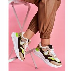 PS1 Sportowe Damskie Buty Sneakersy Białe Freak brązowe wielokolorowe 6