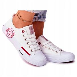 Trampki Damskie Cross Jeans Białe FF2R4072C 8