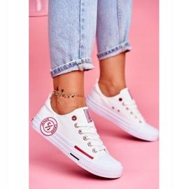 Trampki Damskie Cross Jeans Białe FF2R4072C 1