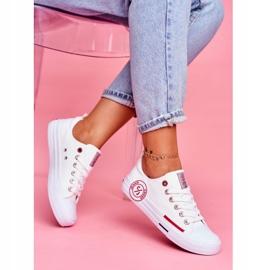 Trampki Damskie Cross Jeans Białe FF2R4072C 2