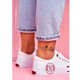 Trampki Damskie Cross Jeans Białe FF2R4072C 4