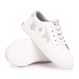 Trampki Dziecięce Big Star Wsuwane Białe FF374034 6