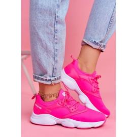 Damskie Sportowe Obuwie Sneakersy Big Star Neon Róż FF274931 różowe 3