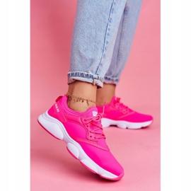 Damskie Sportowe Obuwie Sneakersy Big Star Neon Róż FF274931 różowe 1