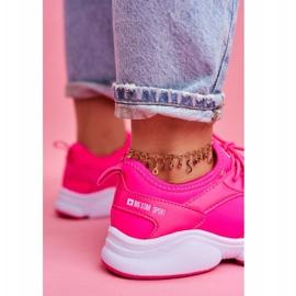 Damskie Sportowe Obuwie Sneakersy Big Star Neon Róż FF274931 różowe 4