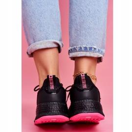 Damskie Sportowe Obuwie Sneakersy Big Star Czarne Fuksja FF274964 różowe 5