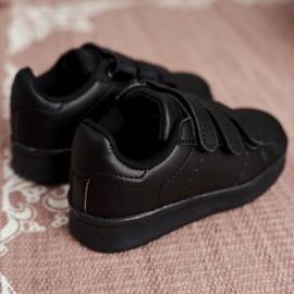 FRROCK Obuwie Sportowe Dziecięce Młodzieżowe Na Rzepy Czarne Fifi 4