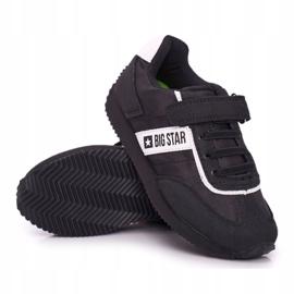 Sportowe Buty Dziecięce Big Star Na Rzepy Czarne FF374134 6