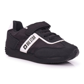 Sportowe Buty Dziecięce Big Star Na Rzepy Czarne FF374134 1