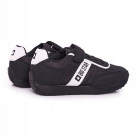 Sportowe Buty Dziecięce Big Star Na Rzepy Czarne FF374134 3