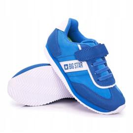 Sportowe Buty Dziecięce Big Star Na Rzepy Niebieskie FF374133 6