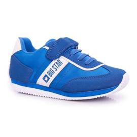Sportowe Buty Dziecięce Big Star Na Rzepy Niebieskie FF374133 1